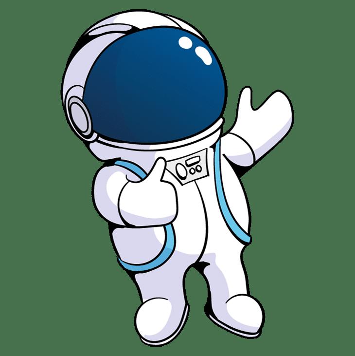 Astronaute avec pouce