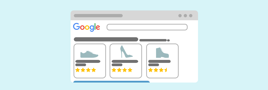 Bannière Google Shopping