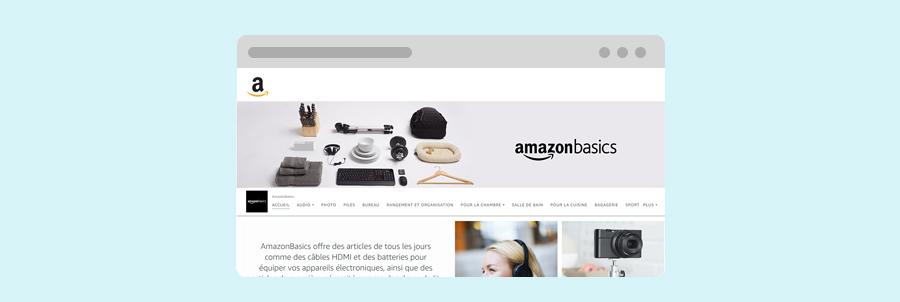 Bannière Amazon Stores